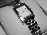 Nwt Vintage Men's Concord Sportivo Watch, Stainless Steel Band, Guilloche Dial