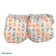 Vintage Disney Huggies Plastic Backed Baby Diapers Mickey Minnie Mouse 1984 2x