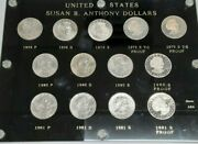 1979-81 Susan B. Anthony Dollar 1 Coin Set - 13 Coins Pds In Capital Holder
