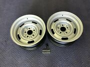 Gm Real 15x7 Pair Early Large Ag Corvette Rally Wheels Restored