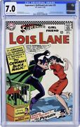 Supermanand039s Girlfriend Lois Lane 70 Cgc 7.0 1st Silver Age Catwoman