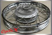 3 In. Rim Laced To A Honda Cb750 Rear Drum Brake Wheel, Laced And Trued