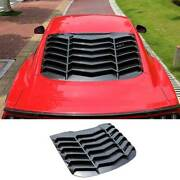 For Ford Mustang 2015-21 Sport Carbon Fiber Tail Rear Window Louver Shutter Trim