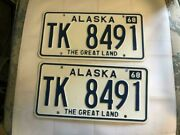 Alaska 1968 Pair Of Collectible Vintage Antique License Plates - The Greatland