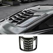 For Ford Mustang 2015-2021 Carbon Fiber Tail Rear Window Louver Shutter Trim 1pc