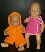 A Pair Of Vintage Cititoy Baby Dolls 12 1996