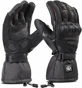 Heated Motorcycle Gloves Ipx66 Waterproof Touch Screen 7.4v 2200mah