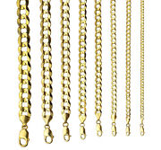 14k Solid Yellow Gold Cuban Link 3.5mm-12mm Chain Necklace Bracelet 7-30