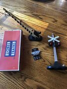 Lionel Post War 154 Automatic Crossing Signal, 252 Crossing Gate And154c Lock On