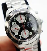 New Men's Movado Kingmatic Automatic Chronograph Watch, 38 Mm, Valjoux 7750, Ss