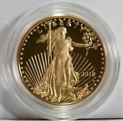 2018-w 25 1/2 Ounce Key Date Proof Gold Eagle In Original Government Packaging