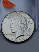 1924-s Peace Dollar 90 Silver Better Date Us Collectible Coin C65
