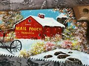 Mail Pouch Tobacco Hand Painted Carpenter Saw Sign Cindy Gaertner Wellington