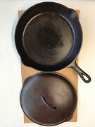 Vintage Griswold 1920s Best Made S And R Co No 9 Cast Iron Skillet 1249 And Lid 1243