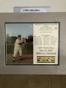 Mickey Mantle 500th Home Run 11x14 Collectors Photos W 100 Year Mlb Stamps