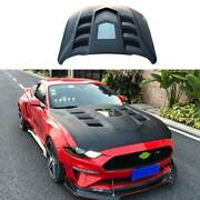 For Ford Mustang 2018-2021 Gtss Resin Replacement Engine Hood Bonnet Cover 1pcs