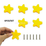 6pcs Soft Rubber Knobs Cute Star Pulls Handles Kids Room Cabinet Drawer Parts