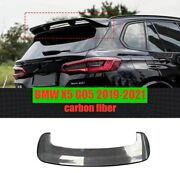 For Bmw X5 G05 2019+ Real Carbon Fiber Surface Rear Upper Trunk Spoiler Wing 1x