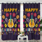 Mexican Music Mexico Cartoon Floral Window Living Room Bedroom Curtains Drapes