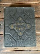 Rare Vintage 1800 Self Pronouncing Holy Bible Combination Edition Illustrated