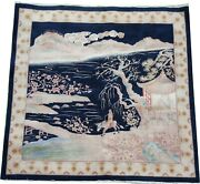 Oriental Carpets Fine Handmade Art Deco Pictorial Chinese Wool Rug 8 X 7.8 Ft