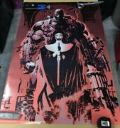 Vintage And Very Rare Deathblow Poster Art Promo 1993  Jim Lee