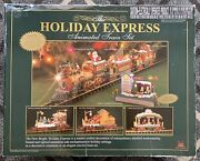 Holiday Express New Bright Animated Christmas Train Set 387 Year 2002 6 Piece