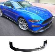 For Ford Mustang 2018-2021 Replace Carbon Fiber Front Lip Spoiler Bodykit Refit