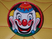 60and039s Circus Noise Maker Clown Tinplate Vintage Toy Things At The