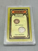 Vintage 1800and039s Rare Coin Collection Indian Head Penny 1893 Liberty Head Nickel