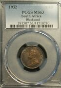 South Africa Farthing 1932 Pcgs Ms 63