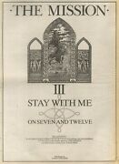 18/10/86pgn50 Advert 15x11 The Mission Iii Stay With Me