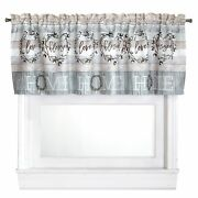 Farmhouse Window Valance With Rustic Country Look - Bathroom Kitchen Treatment