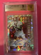 Calvin Ridley 2018 Panini Contenders Draft Pick Cracked Ice Game Day /23 Bgs 9