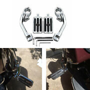 2 X Motorcycle Long Highway Foot Pegs 1.25 For Harley Davidson Dyna Breakout