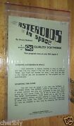 Asteroids In Space By Quality Software For Apple Ii+,iie,iic,iigs 1980 A