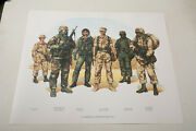 Marines Desert Storm Print In The Middle East 1991 N2r Dept Of Navy Poster