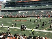 2 Of 4 Front Row 1 Tickets Cincinnati Bengals Cleveland Browns Sec 106 Seats 7and8