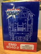 Usa Trains R22313 Canadian Pacific Emd Sd40-2 G Scale
