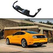 Fit For Ford Mustang 2018-2021 Gt Black Rear Diffuser Lip Spoiler Refit 4-outlet