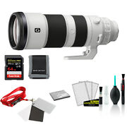 Sony Fe 200-600mm F/5.6-6.3 G Oss Lens Bundle With 64gb Memory Card