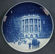 Bing And Grondahl Christmas In America 1987 White House Collector Plate Denmark
