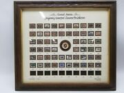 Us Migratory Waterfowl Cloisonne Ducks Unlimited Collection 1934-1989 Framed