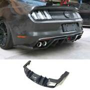 For Ford Mustang 2015-17 Ac 4-outlet Dry Carbon Fiber Rear Diffuser Lip Spoiler