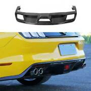 For Ford Mustang 2015-2017 Gt350r Dry Carbon Fiber Rear Diffuser Lip Spoiler 1pc