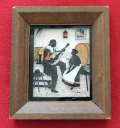 Vintage Reverse Painted Glass Silhouette Picture, Richards, Made In Germany.