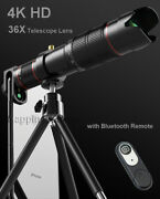 4k Hd 36x Zoom Telescope Phone Camera Lens Blutooth Remote For Samsung S20/s9+