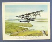 Pan Am First Class Airline Menu Sikorsky S-38 First Air Mail Charles Lindbergh