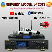 Newst 2021 Bmbbest Music Brand Dar-350h 4k Hdmi Arc With Bmb Wb-5000 Microphon