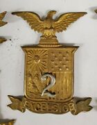 Ny State 2nd Militia M1881 Helmet Plate New York With Out Attachment Lugs/wires